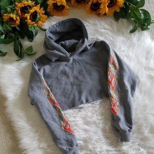 Gildan Heavy Blend Cropped Hoodie Sweatshirt
